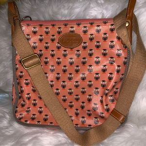 Fossil Owl Coated Canvas Crossbody bag